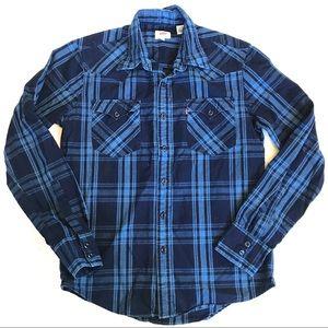 Levi's plaid button down shirt